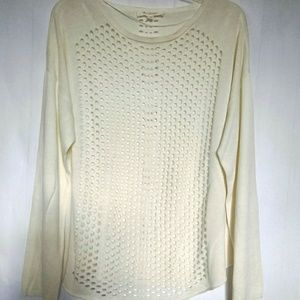 Two by Vince Camuto Cream Sz Xlg Sweater